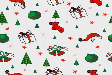 Hintergrund - Weihnachten Seamless pattern