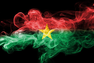 Burkina Faso smoke flag