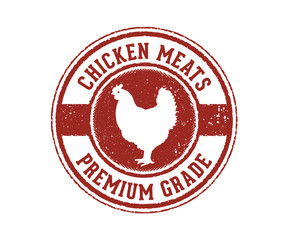 chicken eggs premium grade sign stamp product