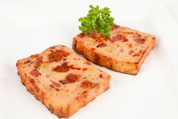 Pizzaleberkäse gebraten