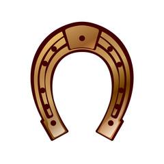 lucky - horseshoe design