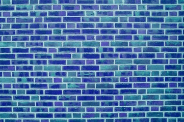 Hintergrund: Backsteinmauer blau