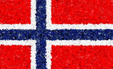 Norwegian Flag with a heart pattern