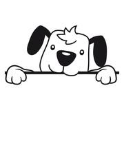 mauer wand text feld schwanz wedeln hund welpe süß niedlich halsband haustier comic cartoon
