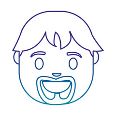 cartoon man icon over white background vector illustration