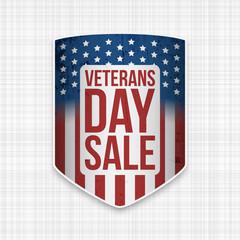 Veterans Day Sale realistic Shield