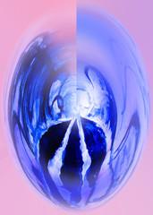 Abstract. Light. Ball. Glass. Sphere