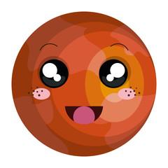 mars planet kawaii character
