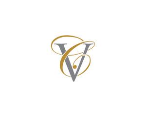 CV VC Letter Logo Icon 1