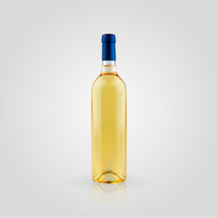 Wine bottle in a realistic style isolated on white background. 3d. Stock - Vector illustration for your design and business