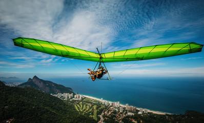 Rio de Janeiro Paraglider  Wall mural