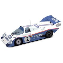 Vector illustration of a vintage race car.