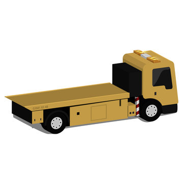 Vector illustration of a flat-bed truck