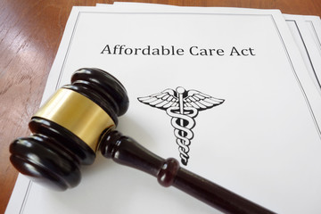 Affordable Care Act and judge's gavel