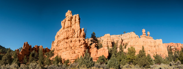 Red rock canyons outside Bryce Canyon National Park in Utah