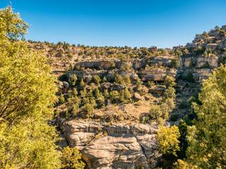 Dwellings in the Walnut Canyon National Monument near Flagstaff, Arizona
