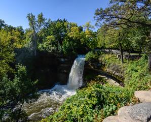 Minnehaha Waterfall in Minneapolis, USA