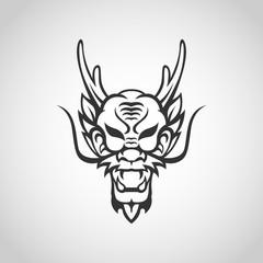 Dragon vector logo icon illustration