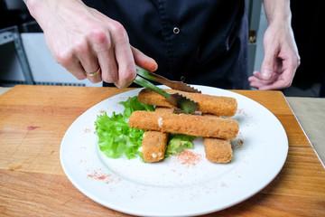 chef chef hands food restaurant