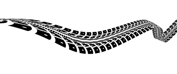 Tire tracks illustration