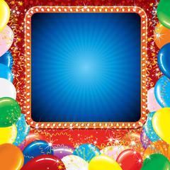 Bright Carnival or Party Sign