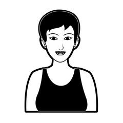 business woman portrait icon image vector illustration design