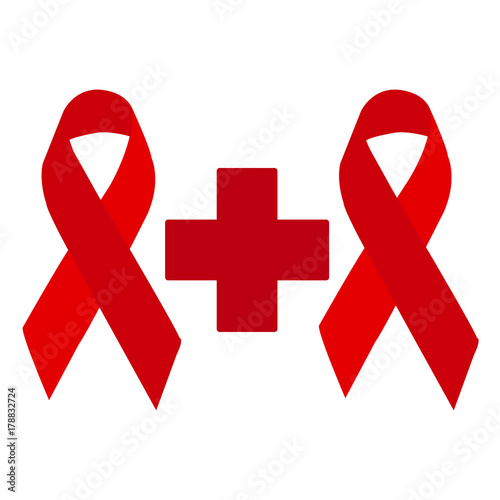 World Aids Day Symbol 1 December Vector Stock Image And Royalty