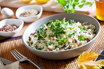 Homemade Rice With Wild Mushrooms