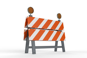 construction barrier or road block