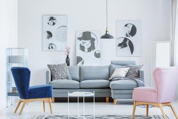 Elegant room with vintage armchairs