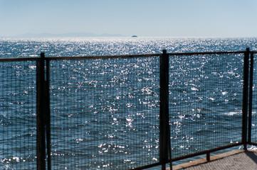 Zaun vor Meer
