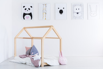 DIY bed in kid's bedroom