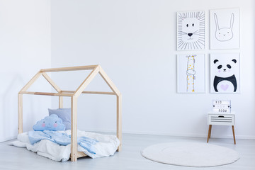 DIY bed in boy's room