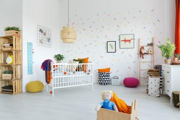 Spacious scandi baby's room