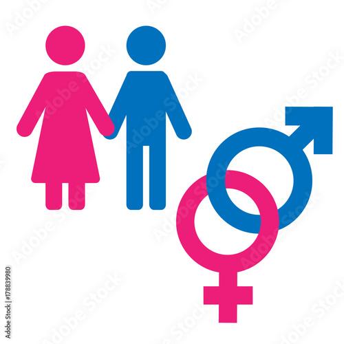 Gender Symbol Set Male Female Girl Boy Woman Man Icon