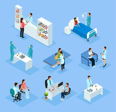 Isometric Medical Preparation And Treatment Set