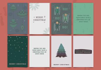 Christmas Greeting Card Set 1