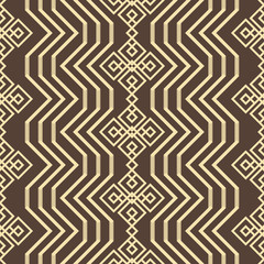 Seamless geometric pattern with openwork elements