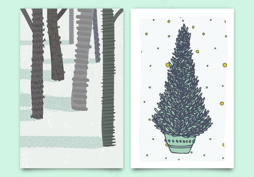 Christmas Greeting Card Set 4