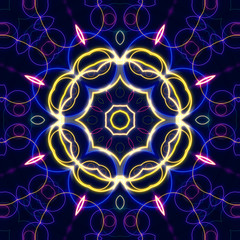 colorful kaleidoscope style background design for fashion,print and design works
