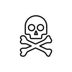 Premium death icon or logo in line style.