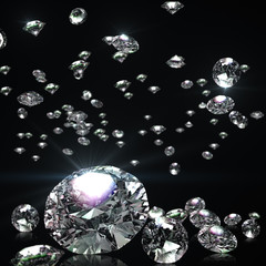 Abstract background of falling diamonds.
