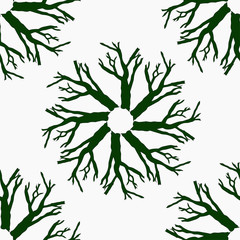 green tree branches pattern for wallpaper