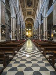 Die Kirche Duomo di Napoli - Cappella San Gennaroi an der Piazetta Gulia del Duomo, Neapel, Kampanien, Italien