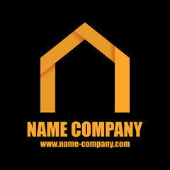 logo constructeur maison artisan construction jaune
