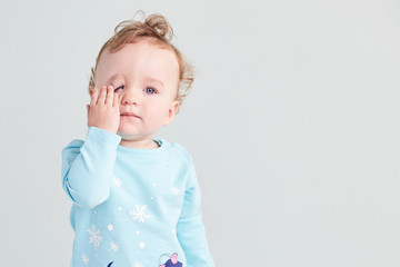 Portrait of a child emotion on a clean background