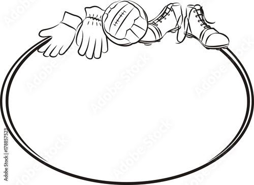 soccer or football frame or banner\