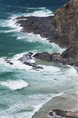 Cape Reinga New Zealand. Waves