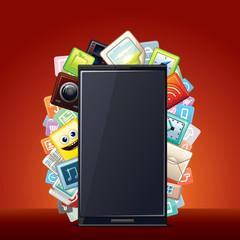 Smart Phone Smartphone Apps Background