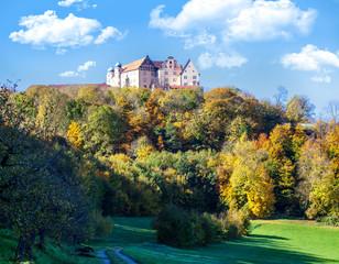 Germany view of Kapfenburg in the ostalb region